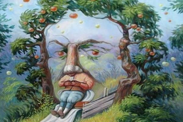 Mit látsz meg elsőre a képen: az almát, az arcot vagy az olvasó embert? A válasz sokat elárul a személyiségedről!