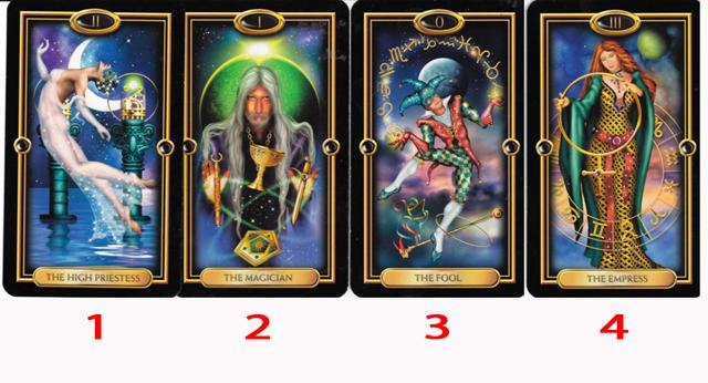 Az általad kiválasztott mágikus kártya megmondja, az elkövetkező három napban, hogyan kötheted magához Fortunát